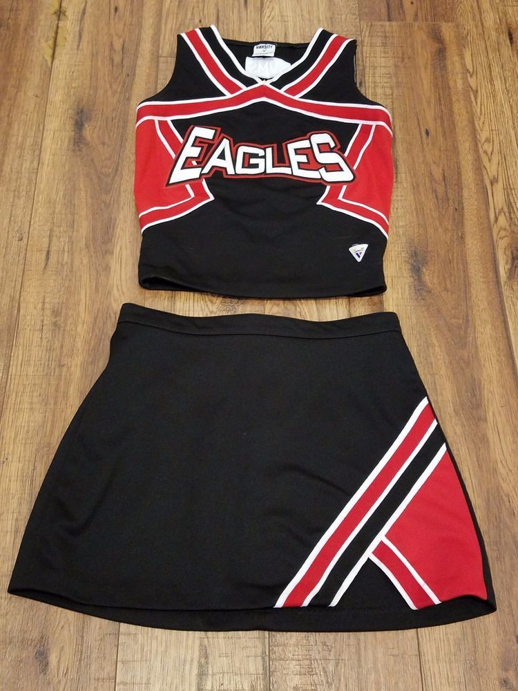Red And White Cheerleading Uniforms High School