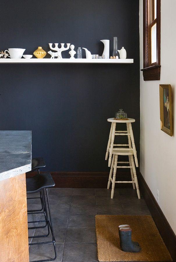 12x donkere muren in je interieur  Slaapkamer  Pinterest