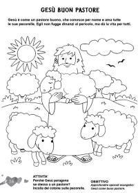 L'ANGOLO: COLORA LA BIBBIA: Ges il buon pastore   Bibliai ...