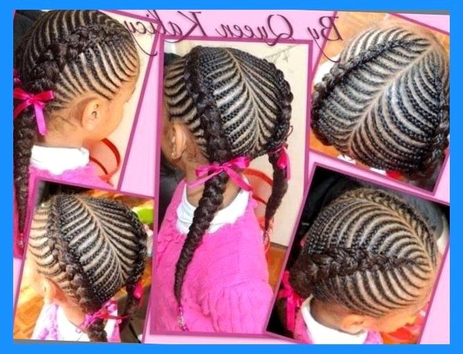Pretty Cornrow Style African American Natural Protective Nature