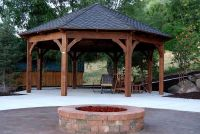 Octagon Fire Pit Swing | Gazebo | Pinterest | Swings ...