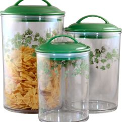 Clear Kitchen Canisters Touch Faucets Corelle Acrylic Canister Callaway Set Of 3 And