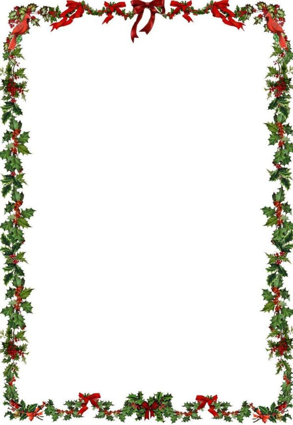 printable holiday border