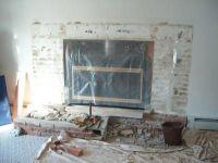 Remove raised hearth turn into flush hearth; new fireplace ...