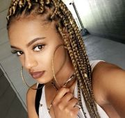 blonde box braids pinteres