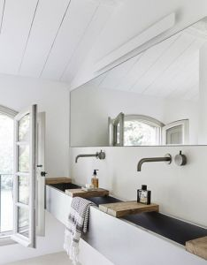 White bathroom walls with rustic modern sink sfgirlbybay also sleep over  friends house swimming by trust kashmir liked on rh pinterest