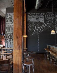 Eat drinkericano reveals its fresh face downtown restaurant interiorscafe also chalk wall rh pinterest