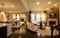 Open floor plan layout, all hardwood floors through to ...