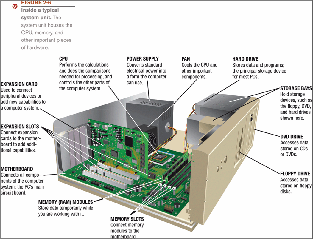 Memory Consists Of Electronic Components That Store Instructions Waiting To Be Executed And Data