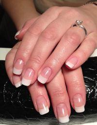 natural looking acrylic nails. Not too long, not too ...