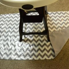High Chair Splat Mat Millennium Tree Stand Diy For Under Your Baby Mess