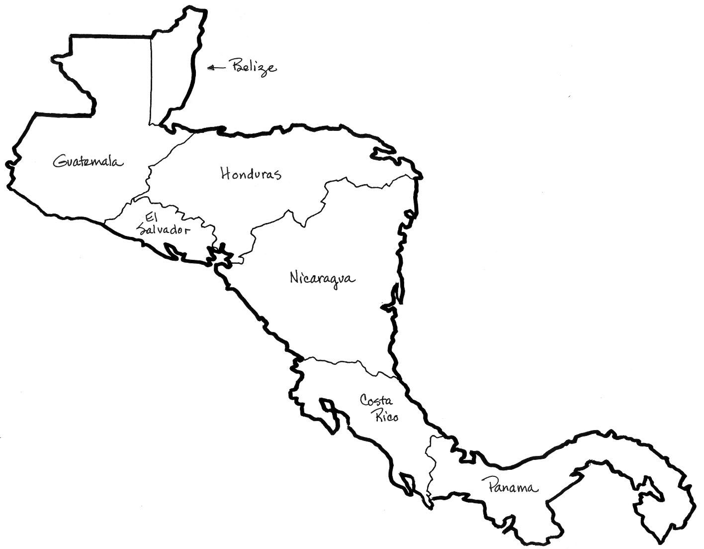 Central America Map Coloring