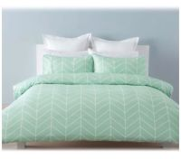 Robin Mint Green Chevron White SINGLE Bed Doona Quilt ...