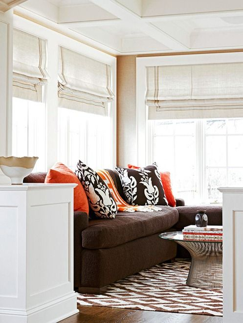 Brown Colors Living Couches Room Accent