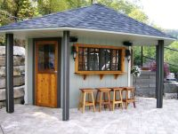 back yard bar with roof