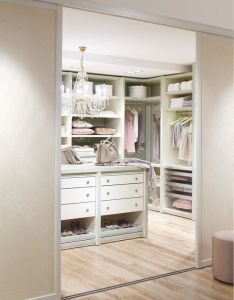 Sliding door wall for if  did bed as walk in closet traditional storage  closets photos design pictures remodel decor and ideas also feminine pinterest rh