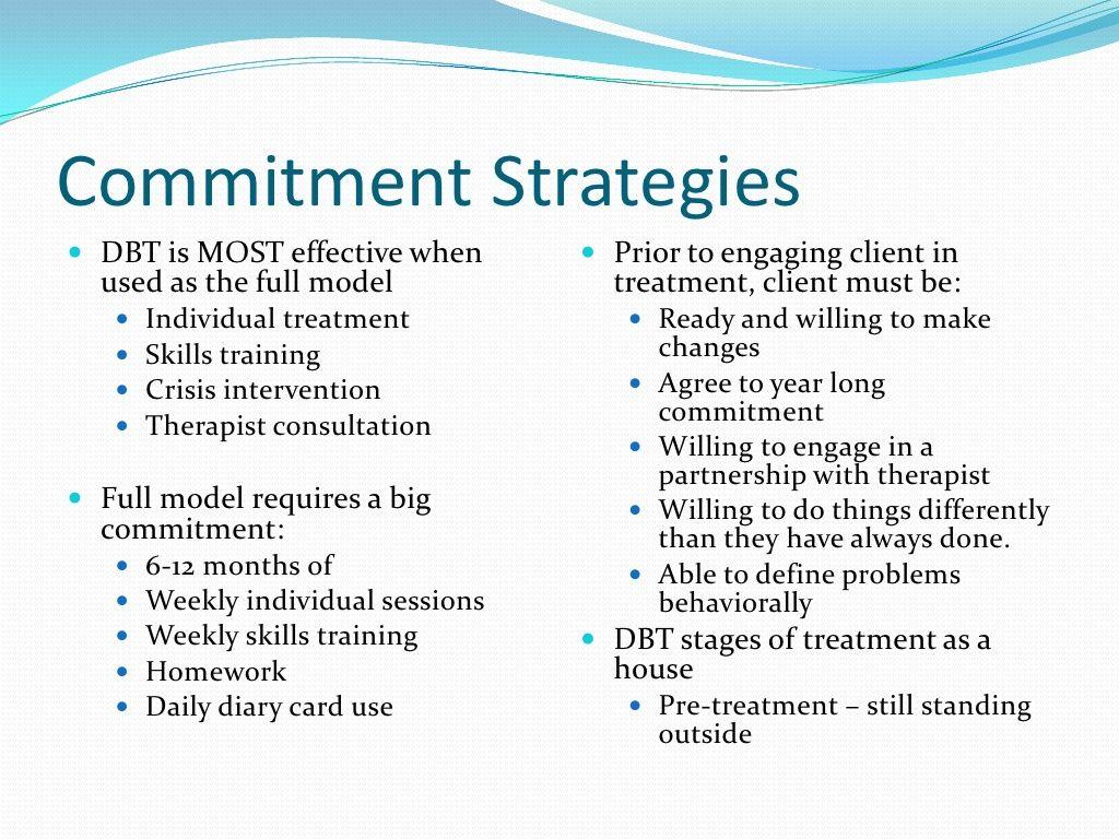 Dbt Commitment Strategies