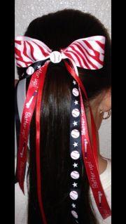 softball baseball hair bow craft