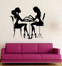 Vinyl Decal Beauty Salon Nail Manicure Hair Spa for Woman