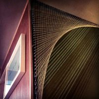 Pretty cool! String art wall installation. I used to draw ...