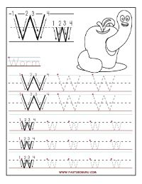 Printable letter W tracing worksheets for preschool ...