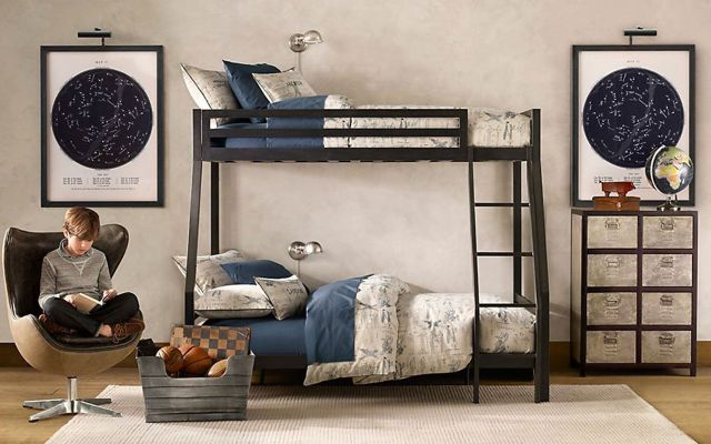 galvanized metal furniture for a teen room