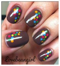 Really diggin' this colorful dot design - great for short ...