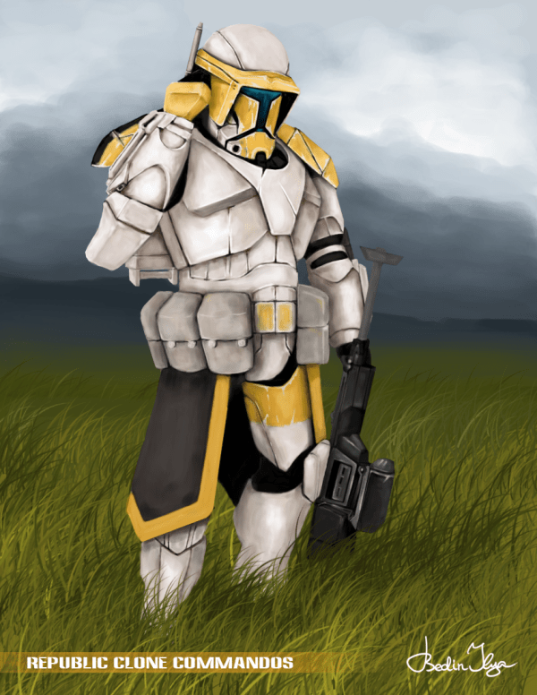 Star Wars Clone Commando Concept Art Year Of Clean Water