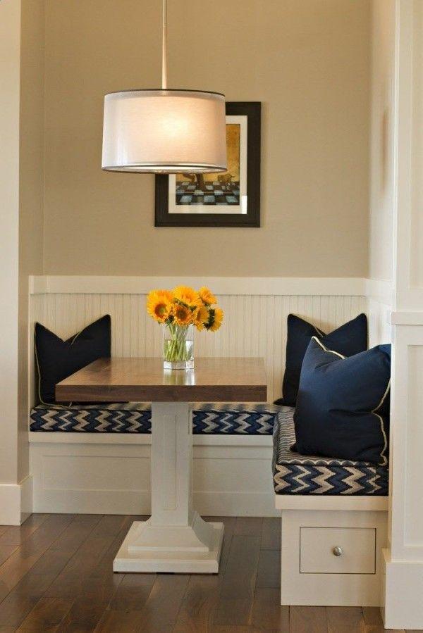 Corner Nook Kitchen Table with Storage Using Under Bench