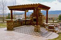 outdoor kitchen ideas barbecue grills under pergola ...