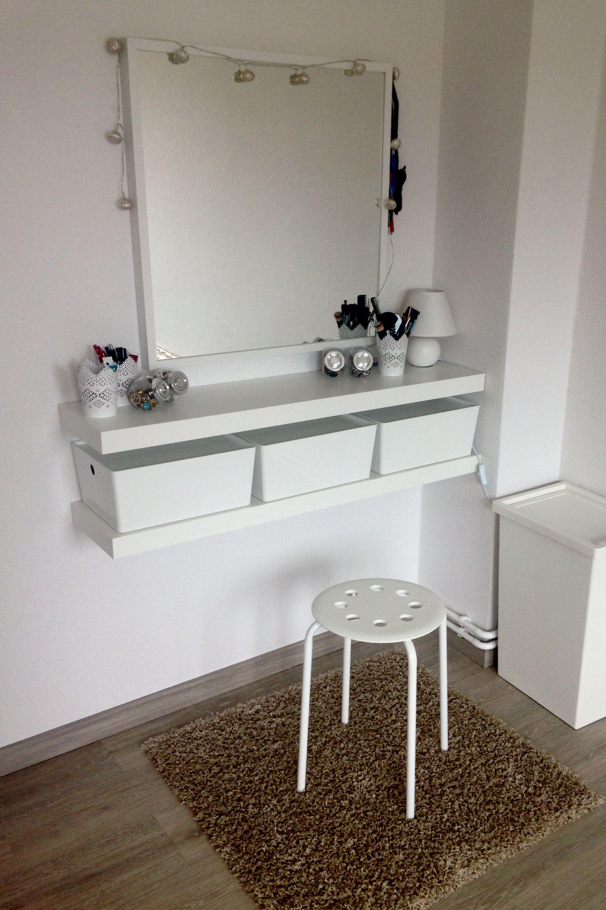 Kallax Regal Ideen Schlafzimmer  Diy Schminkecke