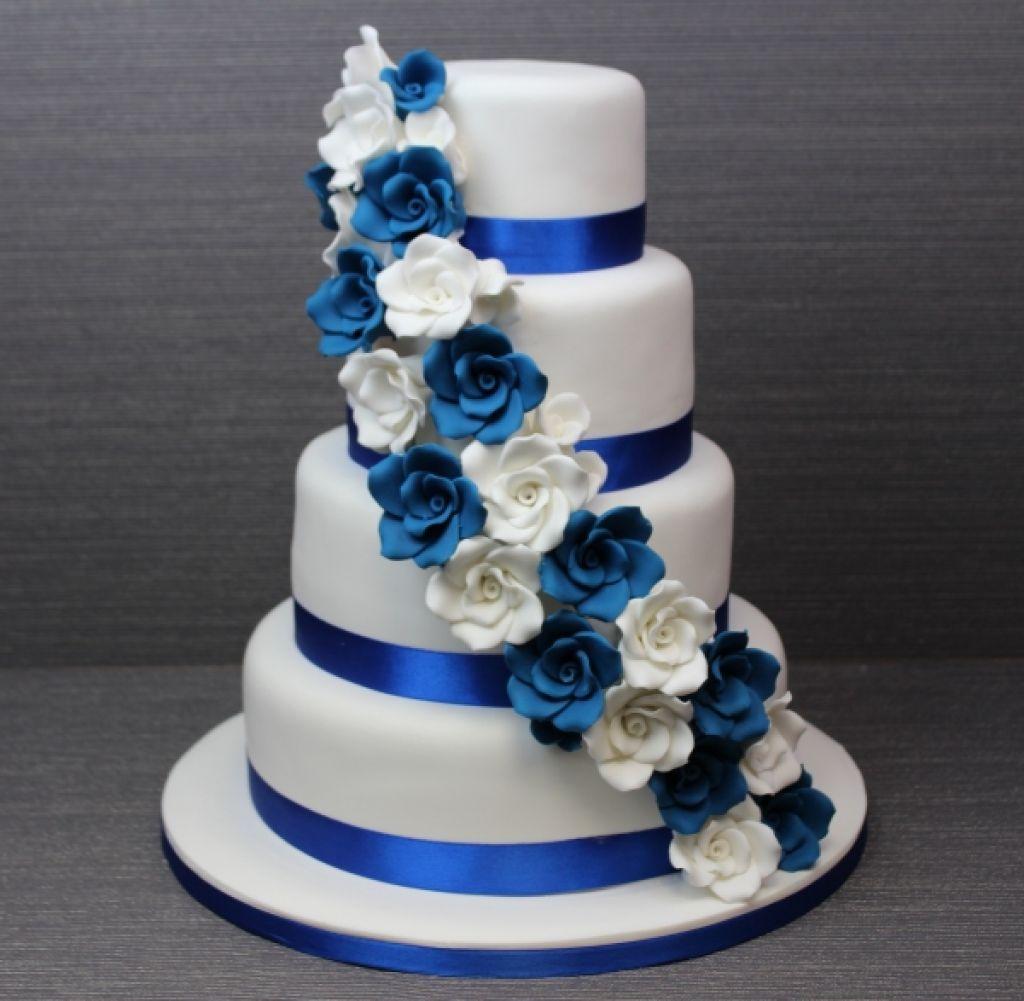 Royal Blue And White Wedding