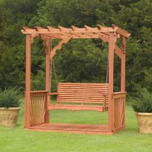 Porch Swing Frame Plan . Wooden Cedar Wood Pergola