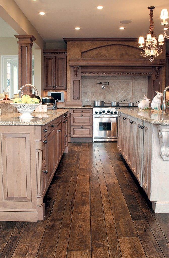 30 Stunning Kitchen Designs  Smooth face Oak hardwood
