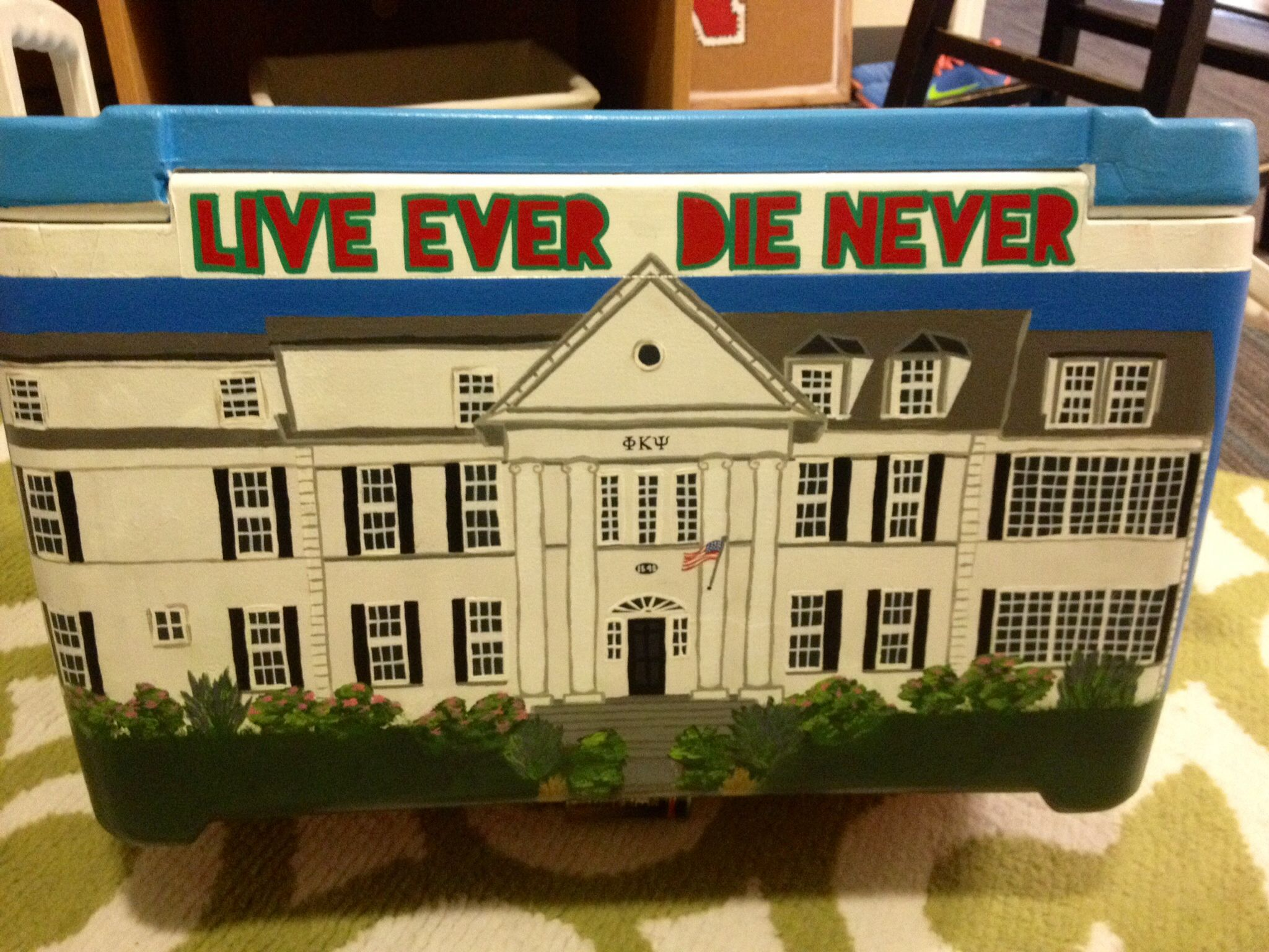 I Decided To Paint The UNL Phi Kappa Psi Fraternity House Right On
