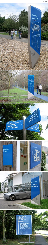University Of Kent Campus Wayfinding & Signage Design