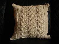 cable knit dec. pillow   Mi Casa   Pinterest   Pillows and ...