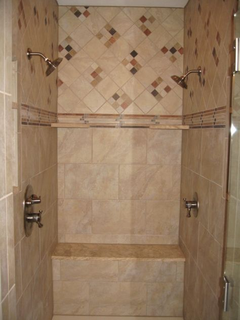 Master Bathroom Two Person Walk In Shower Glass Door