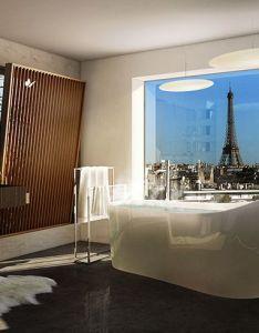 Matteo cainer architects design parisian penthouse soaked in light also foret urbaine designboom rh pinterest