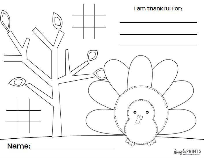 FREE PRINTABLE Thanksgiving Placemat, perfect for the kids