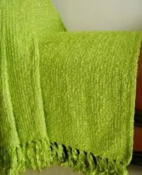lime green throws | Click4Curtains.com Shiny Chenille ...