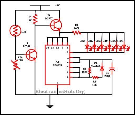 LED Christmas Lights Circuit Diagram And Working Circuit Diagram