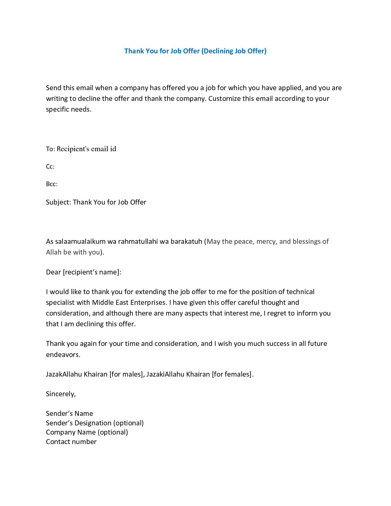 docstoccomThank You For Job Offer Email  77  Pinterest