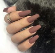 brown matte nails nail ideas