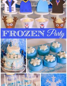 frozen girl birthday party with all the characters from movie and snowflake cupcake toppers also     th amazing cakes rh pinterest