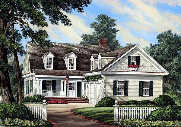 Plan 32598WP L Shaped Cape Cod Home Plan House Plans 2! And