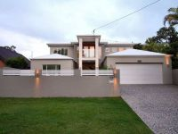 Modern House Fence Design Rendered brick modern house ...