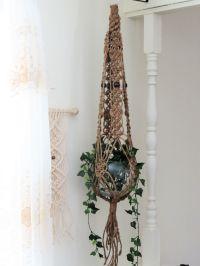 Jute macrame plant hanger, Macrame hanging planter, Large