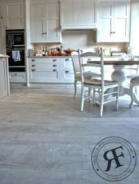 Driftwood grey wood floor in Shaker Kitchen - from ...