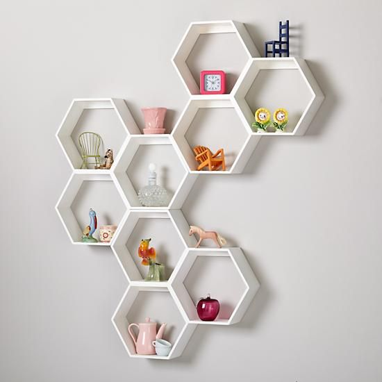 Honeycomb Wall Shelf White In New Room Dcor The Land